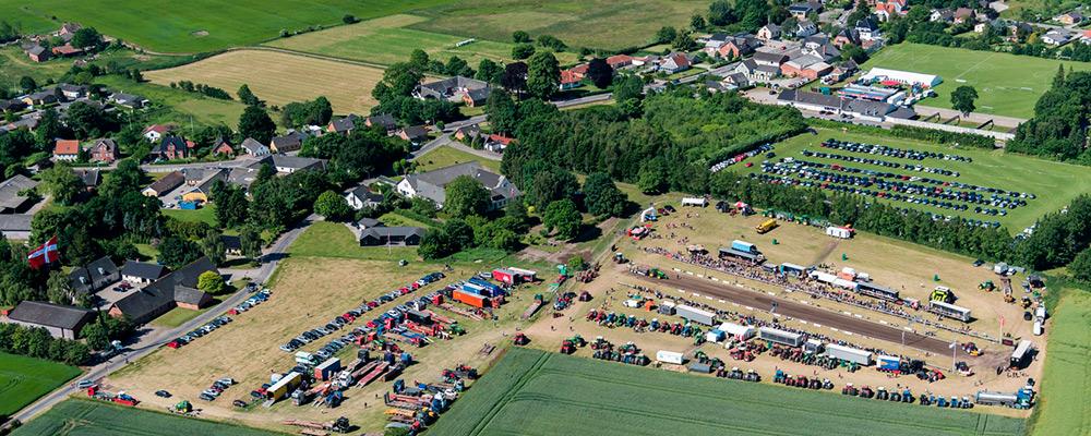 Luftfoto af Særslev Traktortræk