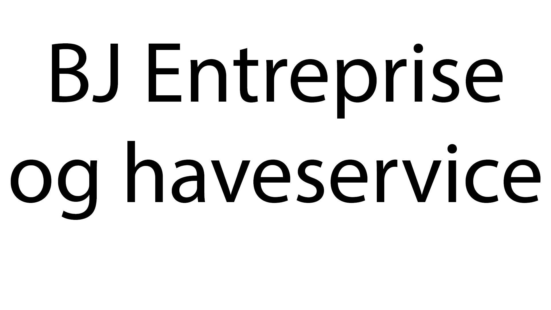 BJ entreprise og haveservice